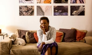 Claudia Rankine and dog Sammy in 2014.  (Photo by Ricardo DeAratanha/Los Angeles Times via Getty Images)