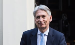 Chancellor of the Exchequer Philip Hammond at 10 Downing Street in London.