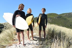 Sando (Simon Baker) delivers pearls of wisdom to his young proteges