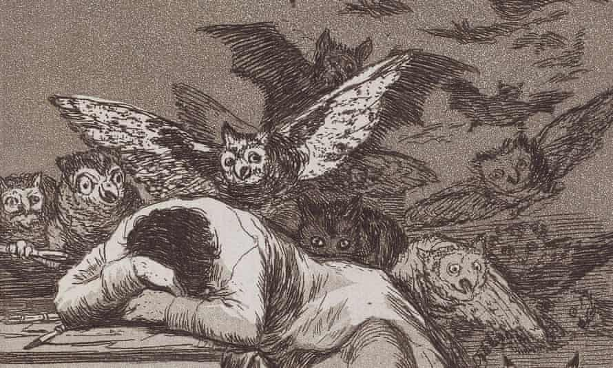A detail from Goya's The Sleep of Reason Produces Monsters