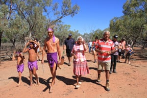 Budjiti elders and traditional owners Phil Eulo and Aunty Ruby lead their family to a formal repatriation ceremony to return displaced artefacts to traditional lands.