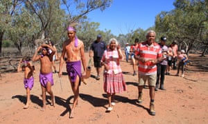 Budjiti elders and traditional owners north of Bourke in New South Wales.
