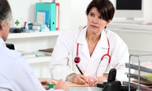 A patient consults a doctor