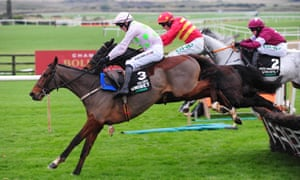 Danny Mullins leads Saldier to victory in the Morgiana Hurdle last month.