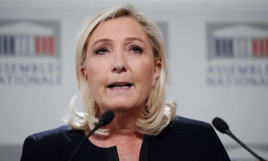 Marine Le Pen, the leader of French far-right National Rally.