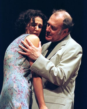 'Nothing you do is wrong' … with Harold Pinter in his One for the Road.
