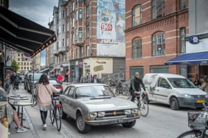 Vaernedamsvej, a shopping street in Vesterbro, Copenhagen.