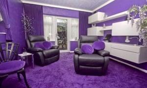 Purple house's living room