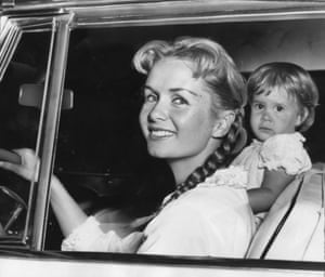 Reynolds with Fisher, when she was 23 months old in 1958