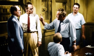 Speaking his mind: Henry Fonda (second from left) stands up to the other jurors in 1957's 12 Angry Men.