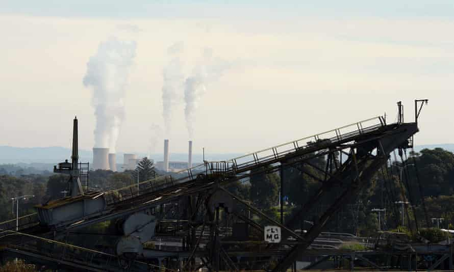 The Yallourn brown coal-fired power station operated by EnergyAustralia in the Latrobe valley.