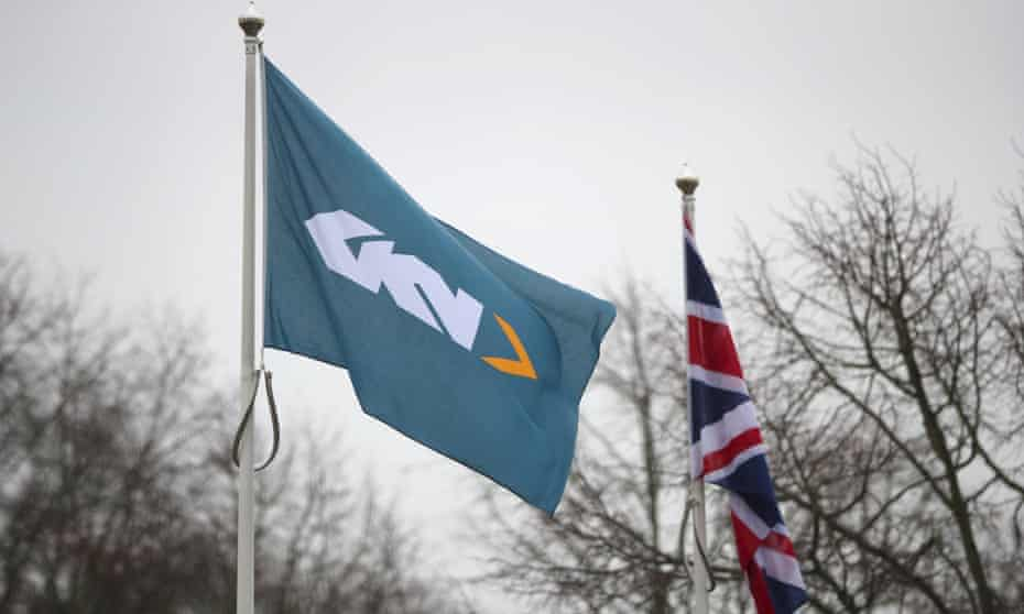 GKN flag outside its headquarters in Redditch