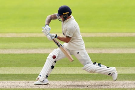 Ben Stokes in action at Old Trafford.