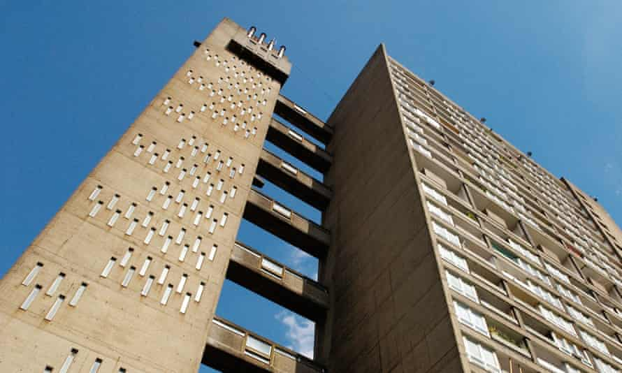 The iconic Balfron Tower in east London, a social housing development to be refurbished and sold as upmarket flats.