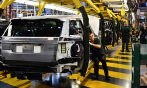Jaguar Land Rover production line at Solihull.
