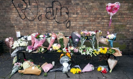 Floral tributes and messages for Libby Squire in Hull