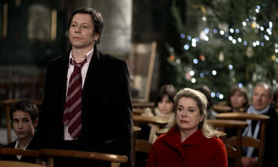 Festive froideur … Mathieu Amalric and Catherine Deneuve in A Christmas Tale.