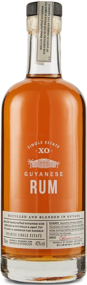 Marks & Spencer 10-Year-Old Guyanese Rum.