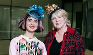 Jo Fairley, founder of Green & Black's and Sahar Freemantle, founder of Sahar Millinery - both are sporting hats by Sahar