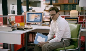 Still from the Joaquin Phoenix movie, Her