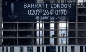 Barratt Developments said the top end of the market in London was challenging.