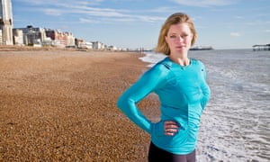 'Swimming is about being in charge': Alexandra Heminsley on Brighton beach.