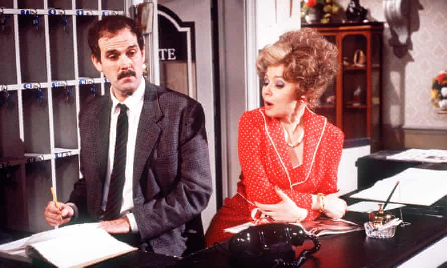 John Cleese and Prunella Scales as Basil and Sybil Fawlty in Fawlty Towers