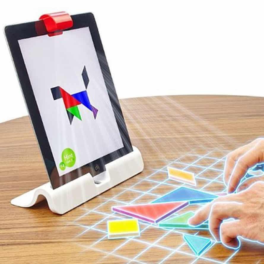 Osmo's tangram game.