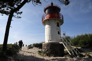 The lighthouse on Hiddensee's Gellen peninsula, a national park and haven for migratory birds.