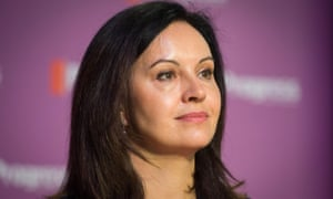 Caroline Flint addresses delegates at the Progress thinktank's annual conference in London.