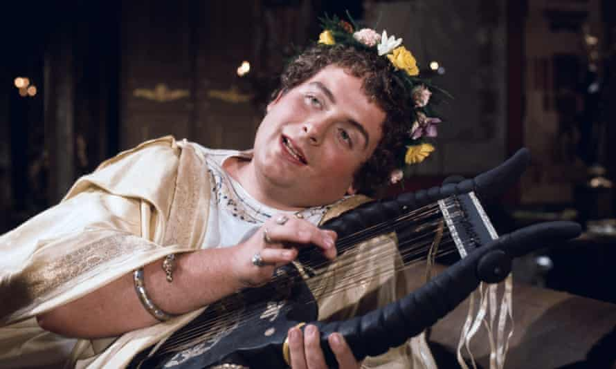 Boy-faced and quite angry… Christopher Biggins as Nero in the BBC adaptation of I, Claudio.