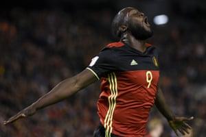 Romelu Lukaku comes off the bench to score Belgium's fourth.