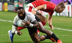 Fiji's Semi Radradra in action in the World Cup last year. Fiji's tour of Europe has been thrown into disarray with almost all of its squad testing positive to Covid-19.