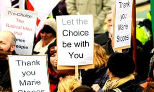 Pro-choice activists in Belfast, Northern Ireland, in March 2014.