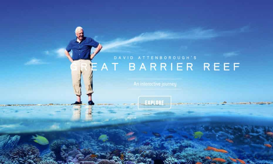 A screenshot from David Attenborough's Great Barrier Reef