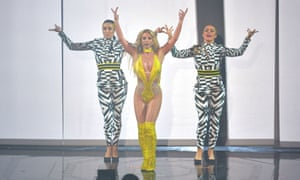 Britney Spears's comeback at the MTV video music awards.