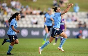 Sydney FC players celebrate