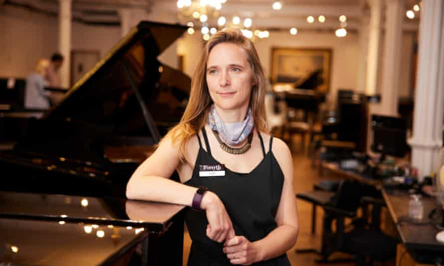 Emma Loat at Forsyths music shop