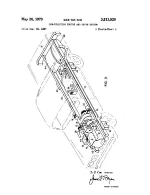 This 1970 patent, assigned to Esso (now ExxonMobil), is a design for a low-polluting engine system.