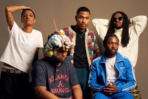 The Internet (l-r): Syd, Matt Martians, Steve Lacy, Patrick Paige II and Christopher Smith.