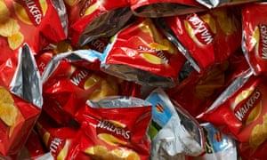 Empty crisp packets