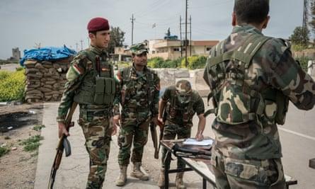 Kurdish peshmerga military units