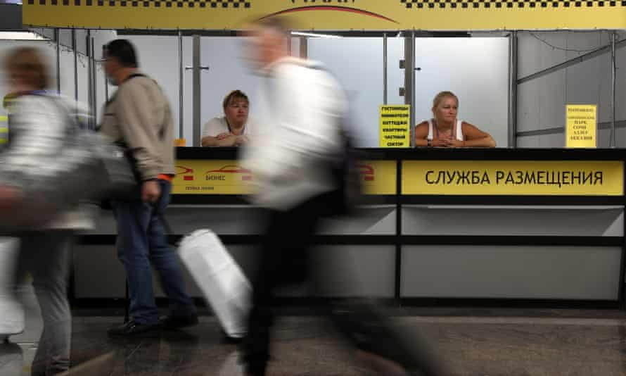 Passengers at Sochi airport in Russia