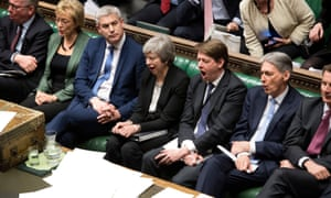 Tory front bench with mouths open