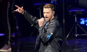'Country-soul turns out to be an astute, classy option for any aging male pop star' ... Justin Timberlake performing at the O2 arena, London, 9 July 2018.