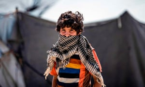 A boy in the Kurdish-run al-Hol camp in the al-Hasakeh governorate in northeastern Syria.