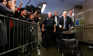 Harvey Weinstein arrives to New York State Supreme Court on 24 February.