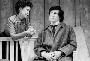 Felicity Kendal (Anna Petrovna) and Alan Bates (Nikolai Ivanov) in Ivanov, 1989