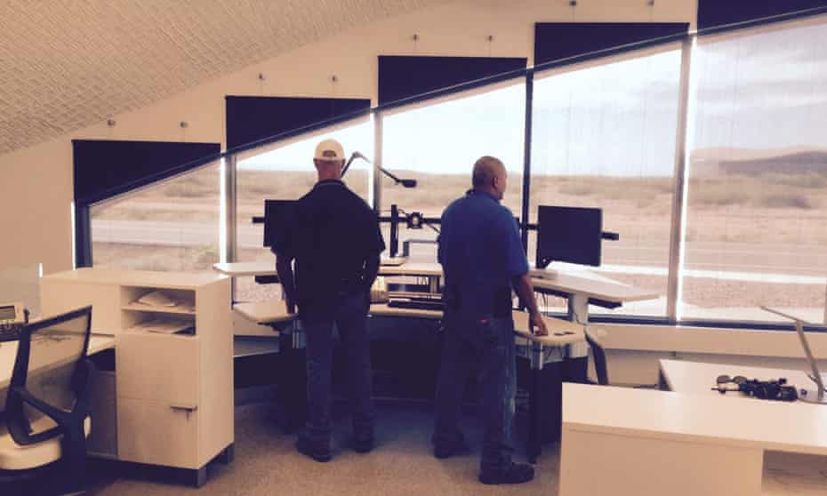 The flight control centre New Mexico Spaceport Center where Google has been testing solar-powered drones