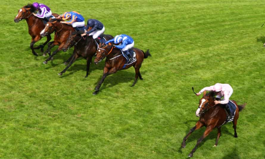 Not a British-trained horse in sight as Anthony Van Dyck leads home the main players in Saturday's Derby.
